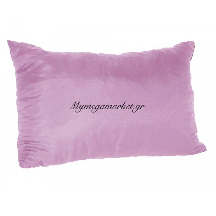 Μαξιλάρι καναπέ - Παγκάκι λιλά μονόχρωμο μακρόστενο 55 x 35 cm | Mymegamarket.gr