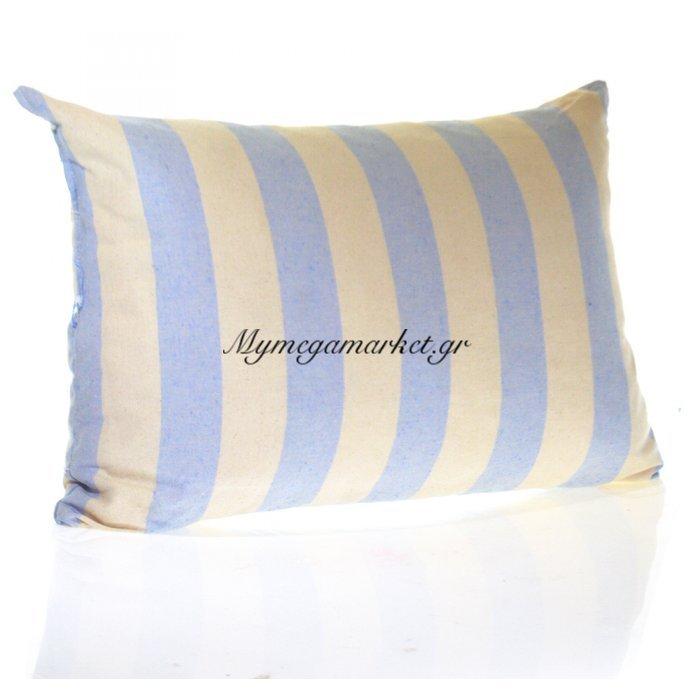 Μαξιλάρι καναπέ - Παγκάκι λονέτα ύφασμα καρώ μακρόστενο 55 x 35 cm   Mymegamarket.gr