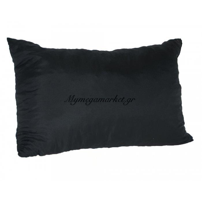 Μαξιλάρι καναπέ - Παγκάκι μαύρο μονόχρωμο μακρόστενο 55 x 35 cm | Mymegamarket.gr