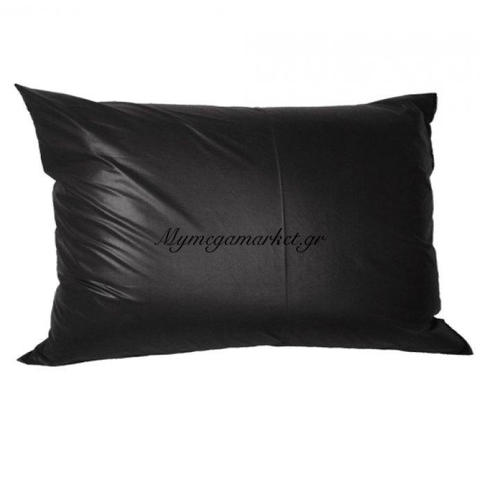 Μαξιλάρι καναπέ - Παγκάκι μαύρο τζίν μονόχρωμο μακρόστενο 55 x 35 cm | Mymegamarket.gr