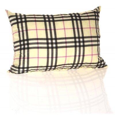 Μαξιλάρι καναπέ - Παγκάκι με καρώ μπέζ σχέδιο μακρόστενο 55 x 35 cm | Mymegamarket.gr