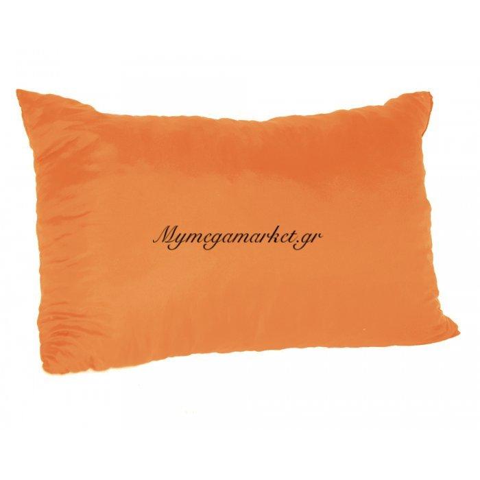 Μαξιλάρι καναπέ - Παγκάκι πορτοκαλί μονόχρωμο μακρόστενο 55 x 35 cm | Mymegamarket.gr