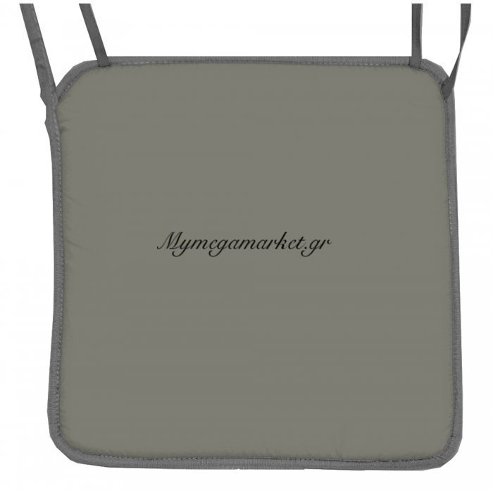 Μαξιλάρι καρέκλας γκρί με ρέλι | Mymegamarket.gr