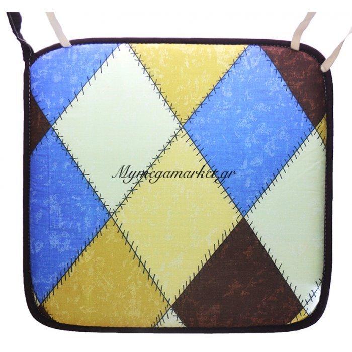 Μαξιλάρι καρέκλας με ρέλι καρώ σχέδιο | Mymegamarket.gr