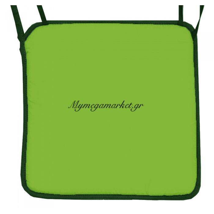 Μαξιλάρι καρέκλας με ρέλι λαχανί χρώμα 38 x 38 x 3 cm | Mymegamarket.gr