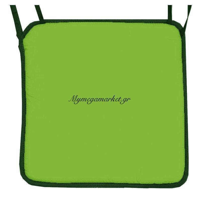 Μαξιλάρι καρέκλας με ρέλι λαχανί χρώμα 38 x 38 x 3 cm