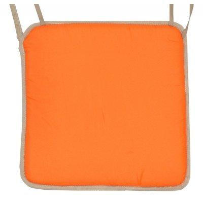 Μαξιλάρι καρέκλας με ρέλι μπέζ –Πορτοκαλί ανοιχτό