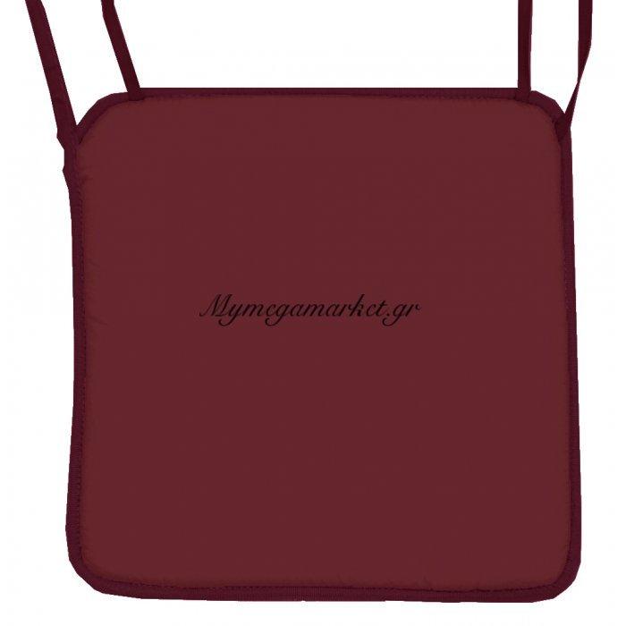 Μαξιλάρι καρέκλας με ρέλι - βυσσινί | Mymegamarket.gr