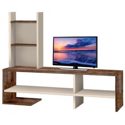 Έπιπλο τηλεόρασης με ραφιέρα Πατίνα - Εκρού MEL-27/C 120 x 30 x 97εκ. | Mymegamarket.gr