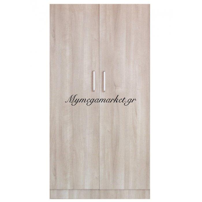 Ντουλάπα ξύλινη δίφυλλη σε φυσικό χρώμα - Mdf 8044187/nat-2 - Tns | Mymegamarket.gr