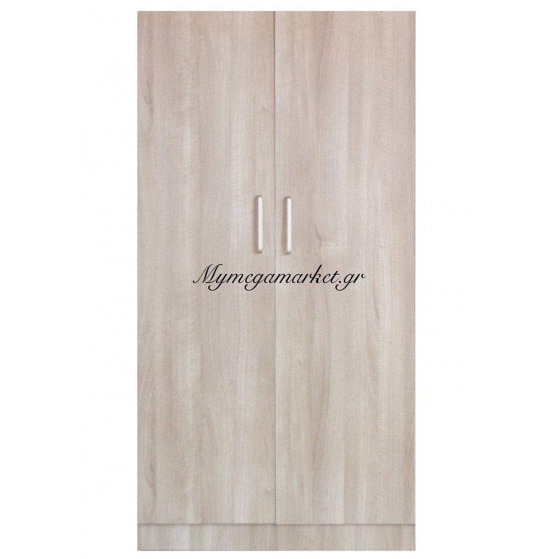 Ντουλάπα ξύλινη δίφυλλη σε φυσικό χρώμα - Mdf 8044187/nat-2 - Tns