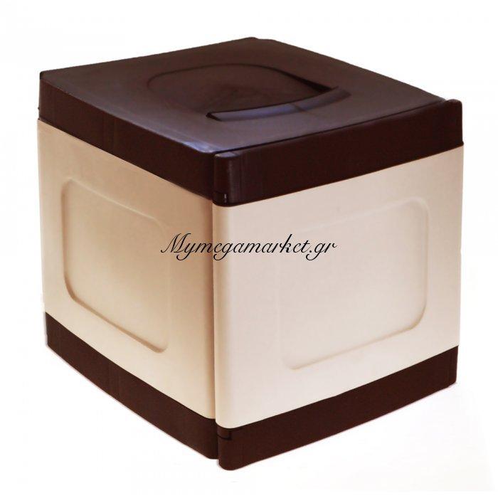 Μπαούλο - Κουτί αποθήκευσης από υψηλής ποιότητας πλαστικό Compact - Καφέ | Mymegamarket.gr