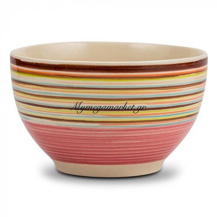 Μπώλ δημητριακών stoneware ρόζ Nava 14 cm | Mymegamarket.gr