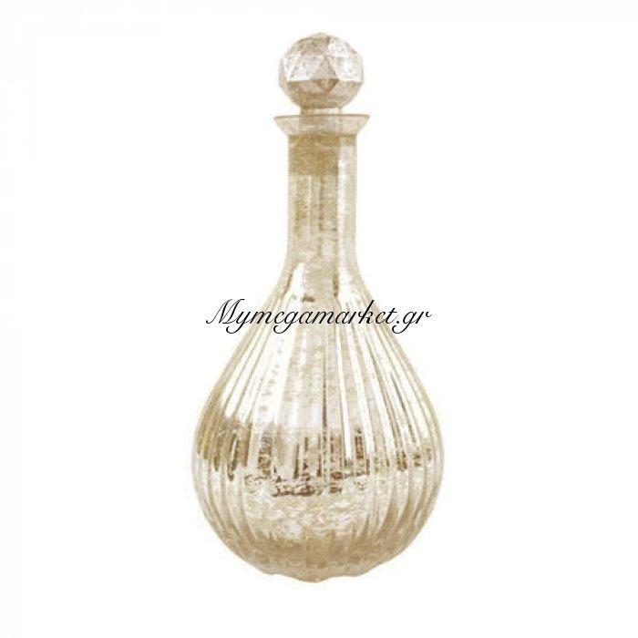 Μποτίλια στρογγυλή γυάλινη Bronze με πώμα στρογγυλό - Nava | Mymegamarket.gr