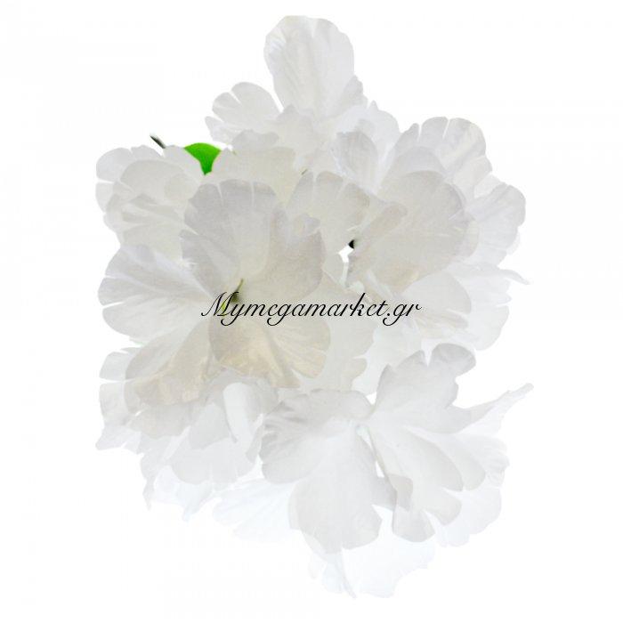 Μπουκέτο λουλούδια λευκά 9 τμχ. - 05-950-2514 | Mymegamarket.gr