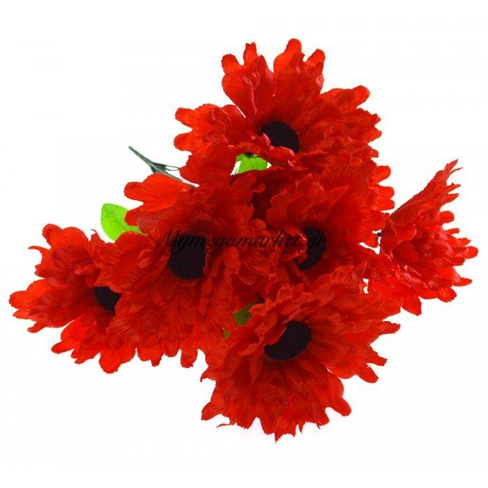 Μπουκέτο λουλούδια μαργαρίτα κόκκινη 9 τμχ. - 05-950-2512 | Mymegamarket.gr