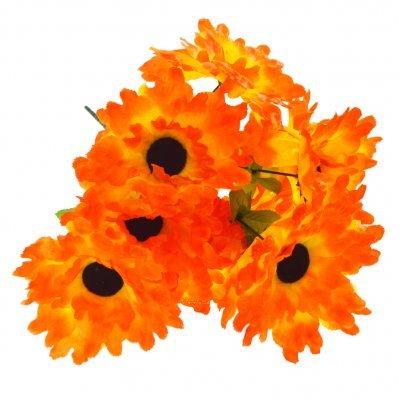 Μπουκέτο λουλούδια μαργαρίτα πορτοκαλί 9 τμχ. - 05-950-2512