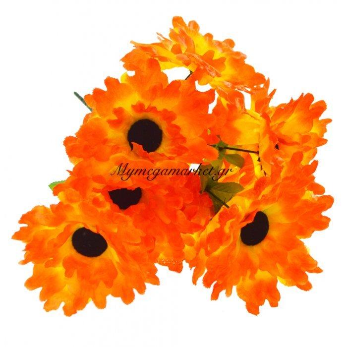 Μπουκέτο λουλούδια μαργαρίτα πορτοκαλί 9 τμχ. - 05-950-2512 | Mymegamarket.gr