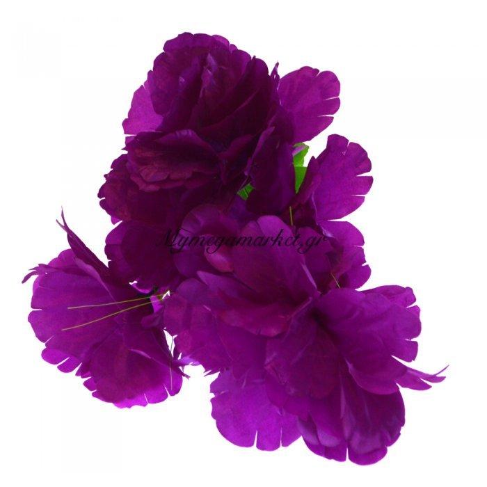 Μπουκέτο λουλούδια μώβ 9 τμχ. - 05-950-2514 | Mymegamarket.gr