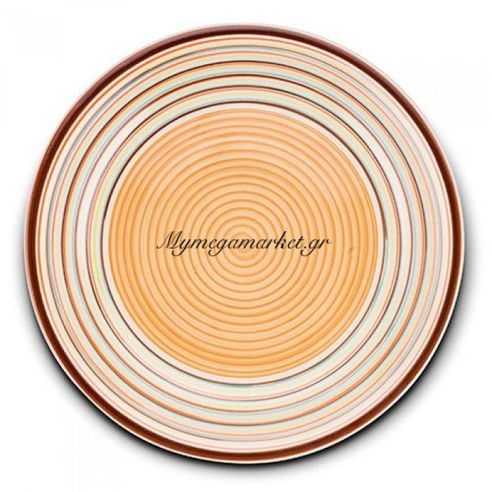Πιάτο ρηχό stoneware καφέ Nava 27 cm | Mymegamarket.gr
