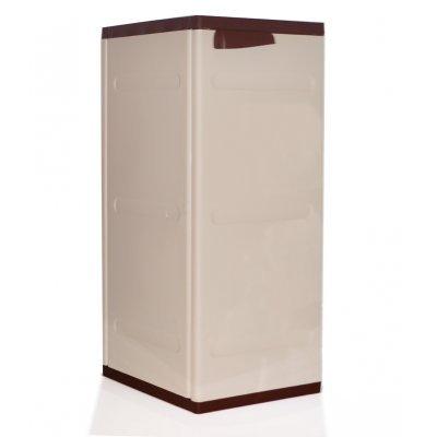 Ντουλάπι πλαστικό με ραφιά - Ίος καφέ με μπέζ - Homeplast