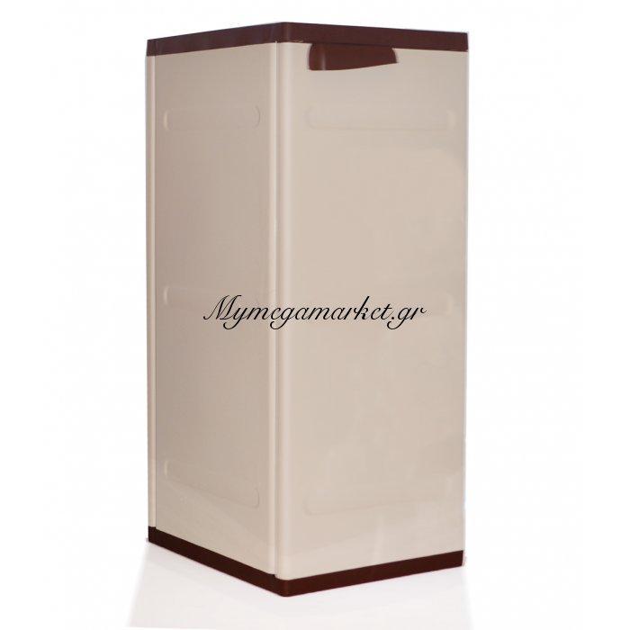 Ντουλάπι πλαστικό με ραφιά - Ίος καφέ με μπέζ - Homeplast | Mymegamarket.gr