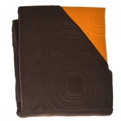 Πάπλωμα Μικροφίμπρα διπλής όψεως μονό 160 x 220 –Καφέ - Πορτοκαλί