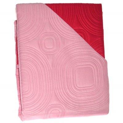 Πάπλωμα Μικροφίμπρα διπλής όψεως διπλο 200 x 220 –Κόκκινο - Φούξια