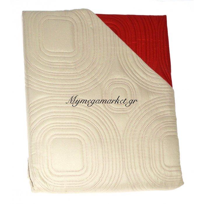 Πάπλωμα Μικροφίμπρα διπλής όψεως μονό 160 x 220 –Μπέζ - Κεραμιδί | Mymegamarket.gr