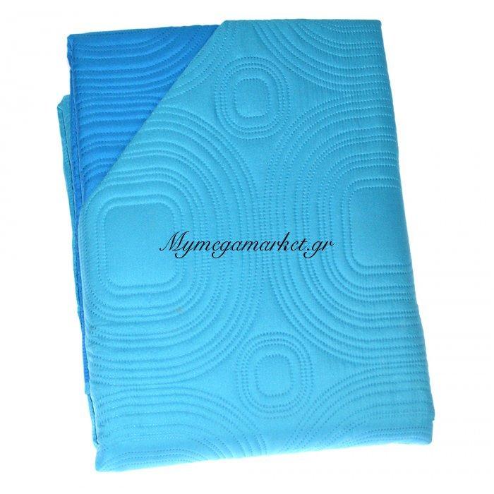 Πάπλωμα Μικροφίμπρα διπλής όψεως υπέρδιπλο 220 x 240 –Μπλέ | Mymegamarket.gr