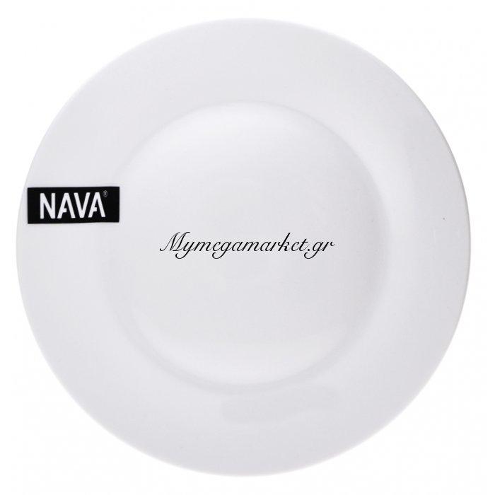 Πιάτο ρηχό πορσελάνινο λευκό επαγγελματικό - Nava | Mymegamarket.gr