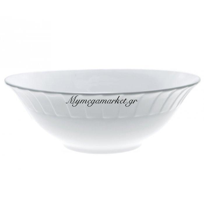 Σαλατιέρα πορσελάνινη λευκή επαγγελματική με ανάγλυφο - Nava | Mymegamarket.gr