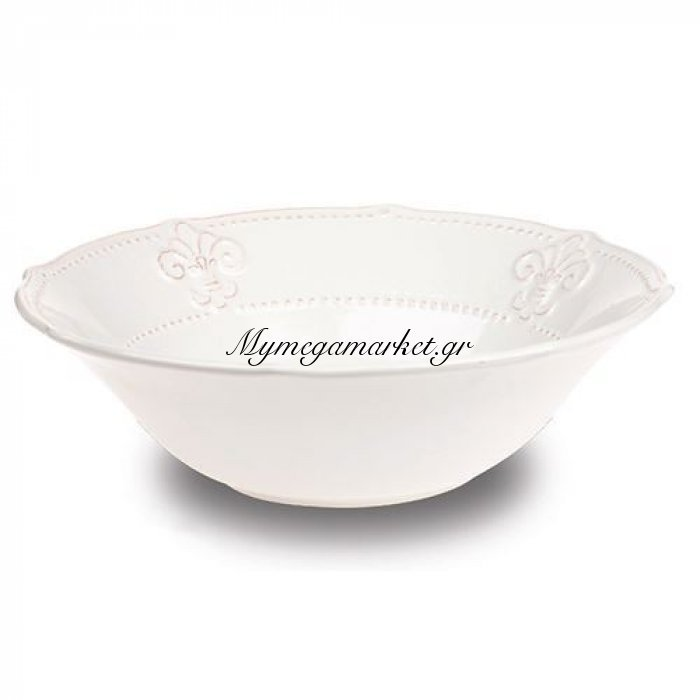 Σαλατιέρα stoneware εκρού με σχέδιο - Nava | Mymegamarket.gr