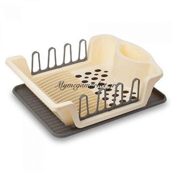 Πιατοθήκη πλαστική με δίσκο μπέζ - Nava | Mymegamarket.gr