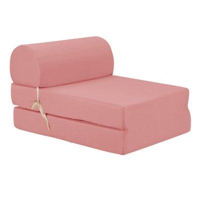 Πολυθρόνα - Κρεβάτι Flip Chair ρόζ απαλό Florina | Mymegamarket.gr