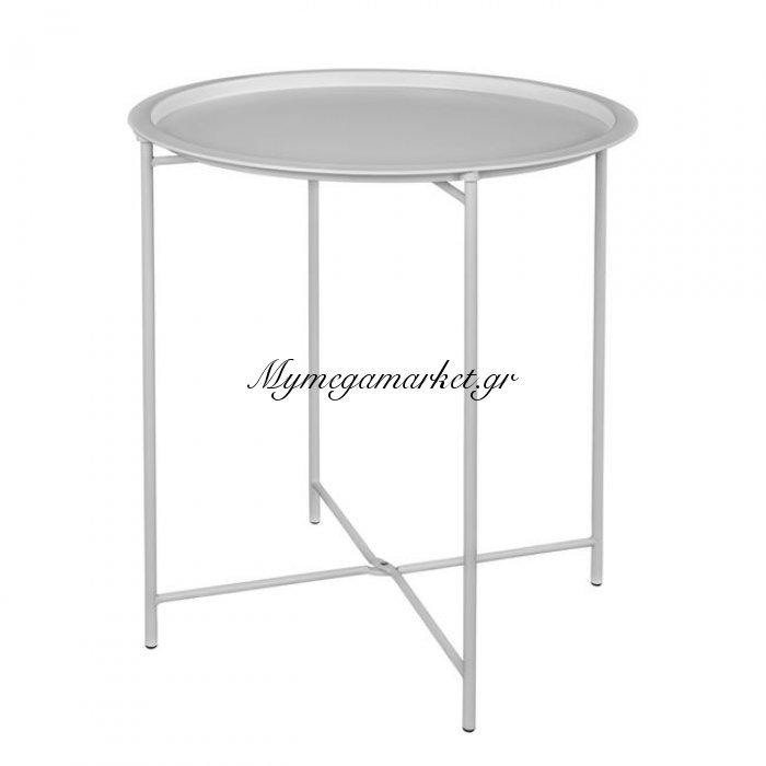Τραπέζι Πτυσσ'ομενο Μεταλλικό Λευκό Φ46 Hm5287.02 | Mymegamarket.gr