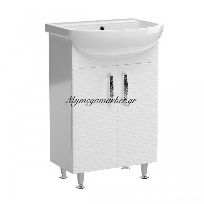 Έπιπλο Μπάνιου Με Νιπτήρα 3D, 55*44*84. 2 Χρονια Εγγυηση Sa-3D55-Was | Mymegamarket.gr