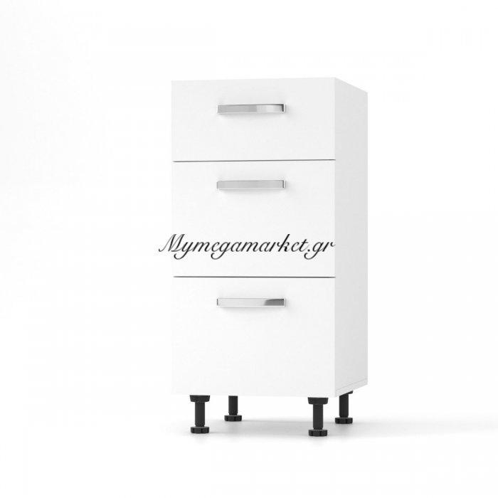 Charlotτe Συρταριέρα 40X46.5X82 Με Μεταλλικά Χερούλια. Χρώμα Λευκο So-Cd403Sw | Mymegamarket.gr