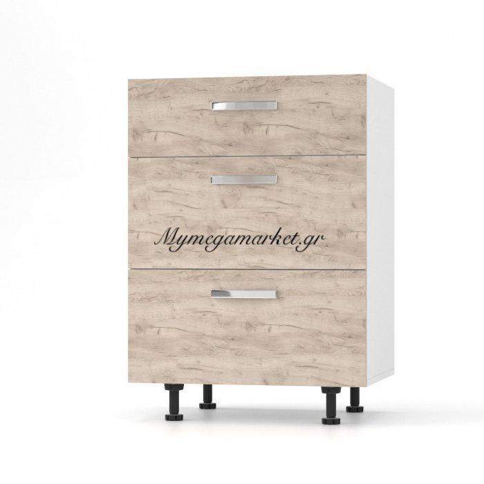 Charlotτe Συρταριέρα 60X46.5X82 Με Μεταλλικά Χερούλια. Χρώμα Δρυσ So-Cd603So | Mymegamarket.gr