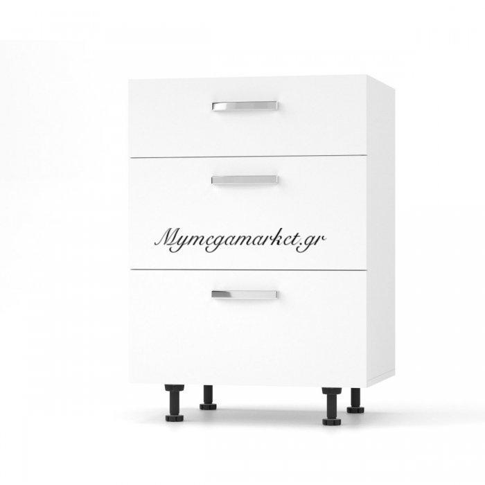 Charlotτe Συρταριέρα 60X46.5X82 Με Μεταλλικά Χερούλια. Χρώμα Λευκο So-Cd603Sw | Mymegamarket.gr