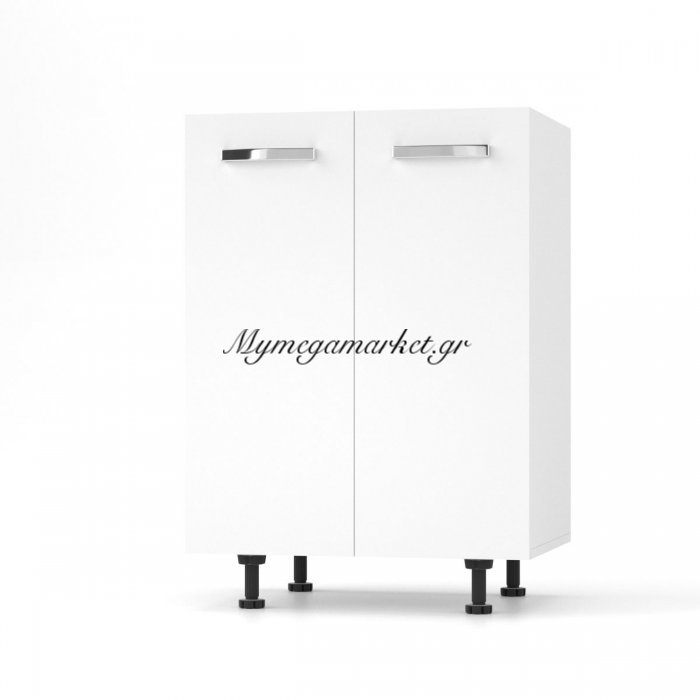 Charlotτe Κάτω Ντουλάπι 60X46.5X82 Με Μεταλλικά Χερούλια. Χρώμα Λευκο So-Cd60W | Mymegamarket.gr