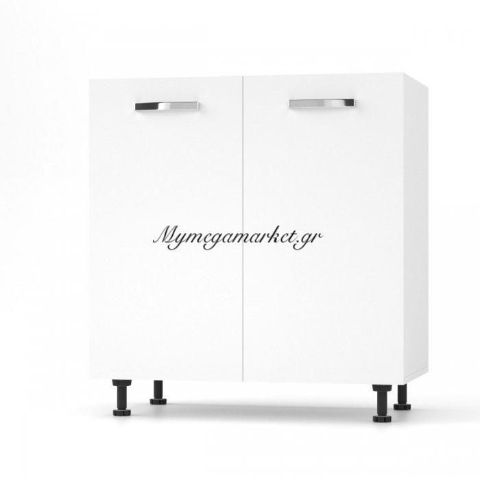 Charlotτe Ντουλάπι Νεροχύτη 80X46.5X82 Με Μεταλλικά Χερούλια. Χρώμα Λευκο So-Cd80Sw | Mymegamarket.gr