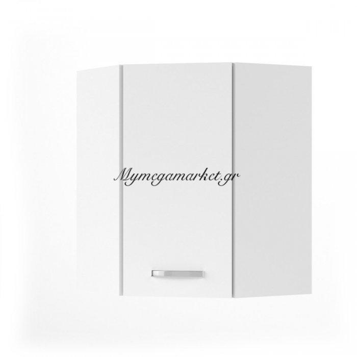 Charlotτe Πάνω Ντουλάπι Γωνίας 60X60X71.8 Με Μεταλλικά Χερούλια. Χρώμα Λευκο So-Cvu60W | Mymegamarket.gr