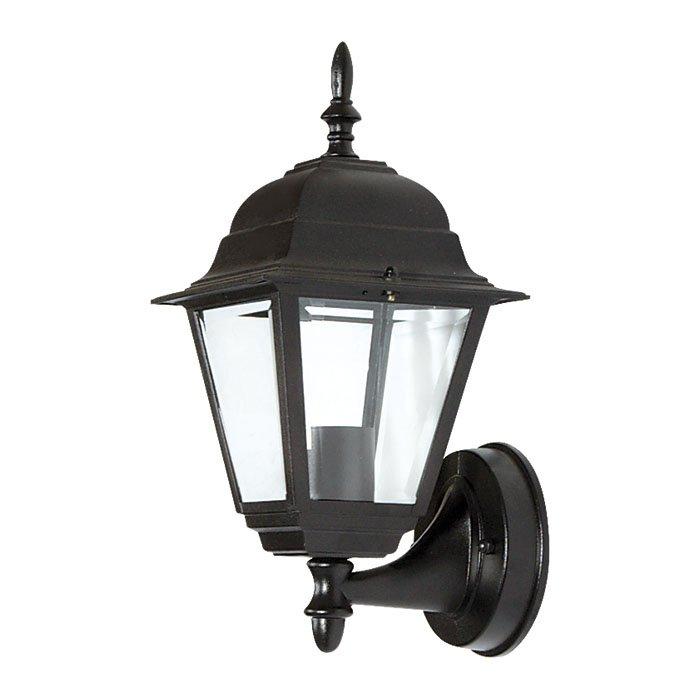 Φωτιστικό Τοίχου Εξωτερικού Χώρου, 1 Λάμπα Τύπου E27, 19*22*40, Μαύρο Χρώμα F5-8047W1 | Mymegamarket.gr