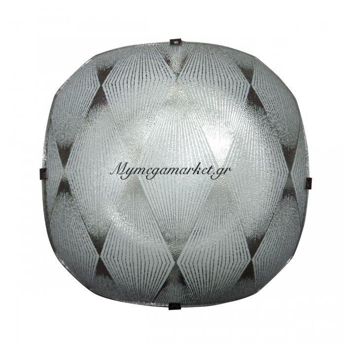 Φωτιστικό Οροφής, Χρώμα Λευκό, 29X29 Εκ.  1 Λάμπα Τύπου Ε27 (Max 40 Watt, Δεν Περιλαμβάνεται). Lo-1108-01 | Mymegamarket.gr