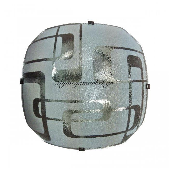 Φωτιστικό Οροφής, Χρώμα Λευκό, 29X29 Εκ.  1 Λάμπα Τύπου Ε27 (Max 40 Watt, Δεν Περιλαμβάνεται). Lo-1108-31 | Mymegamarket.gr