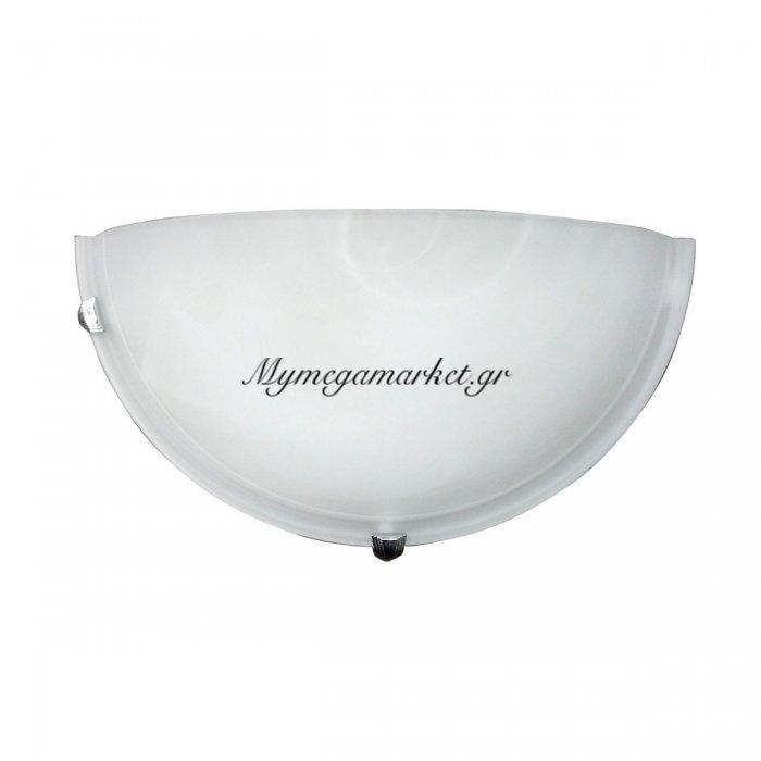 Φωτιστικό Τοίχου, Χρώμα Άσπρο, Αλάβαστρο, 30X15 Εκ. 1 Λάμπα Τύπου Ε27 (Max 40 Watt, Δεν Περιλαμβάνεται). Ta-6195Wa | Mymegamarket.gr