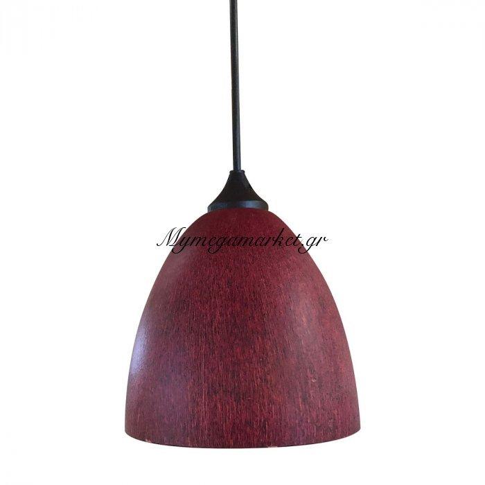 Φωτιστικό Με Γυαλί Καί Καλώδιο, Κόκκινο Σκούρο Χρώμα, Διάμ.17Cm, Ta-186917Rs | Mymegamarket.gr
