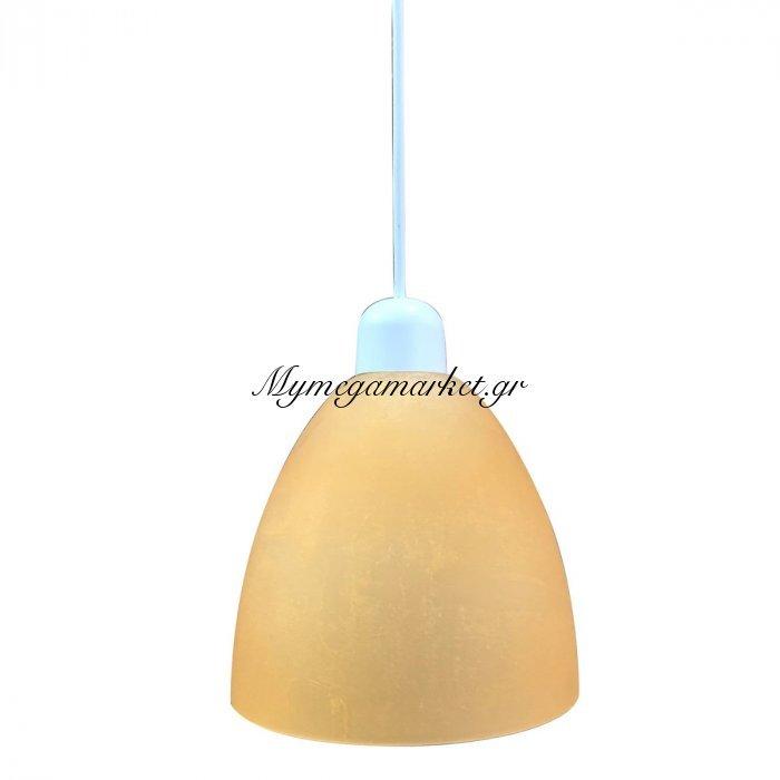 Φωτιστικό Με Γυαλί Και Καλώδιο, Μελί Χρώμα, Διαμ.17Cm,ta-186917Hs | Mymegamarket.gr