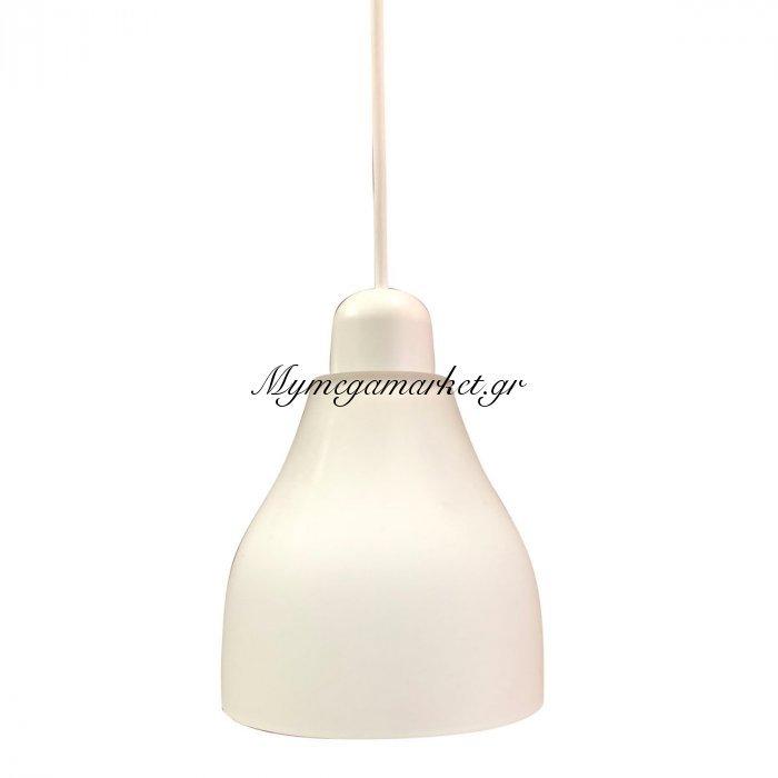 Φωτιστικό Με Γυαλί Και Καλώδιο, Λευκό Χρώμα, Διαμ.14Cm,ta-68414Ws | Mymegamarket.gr
